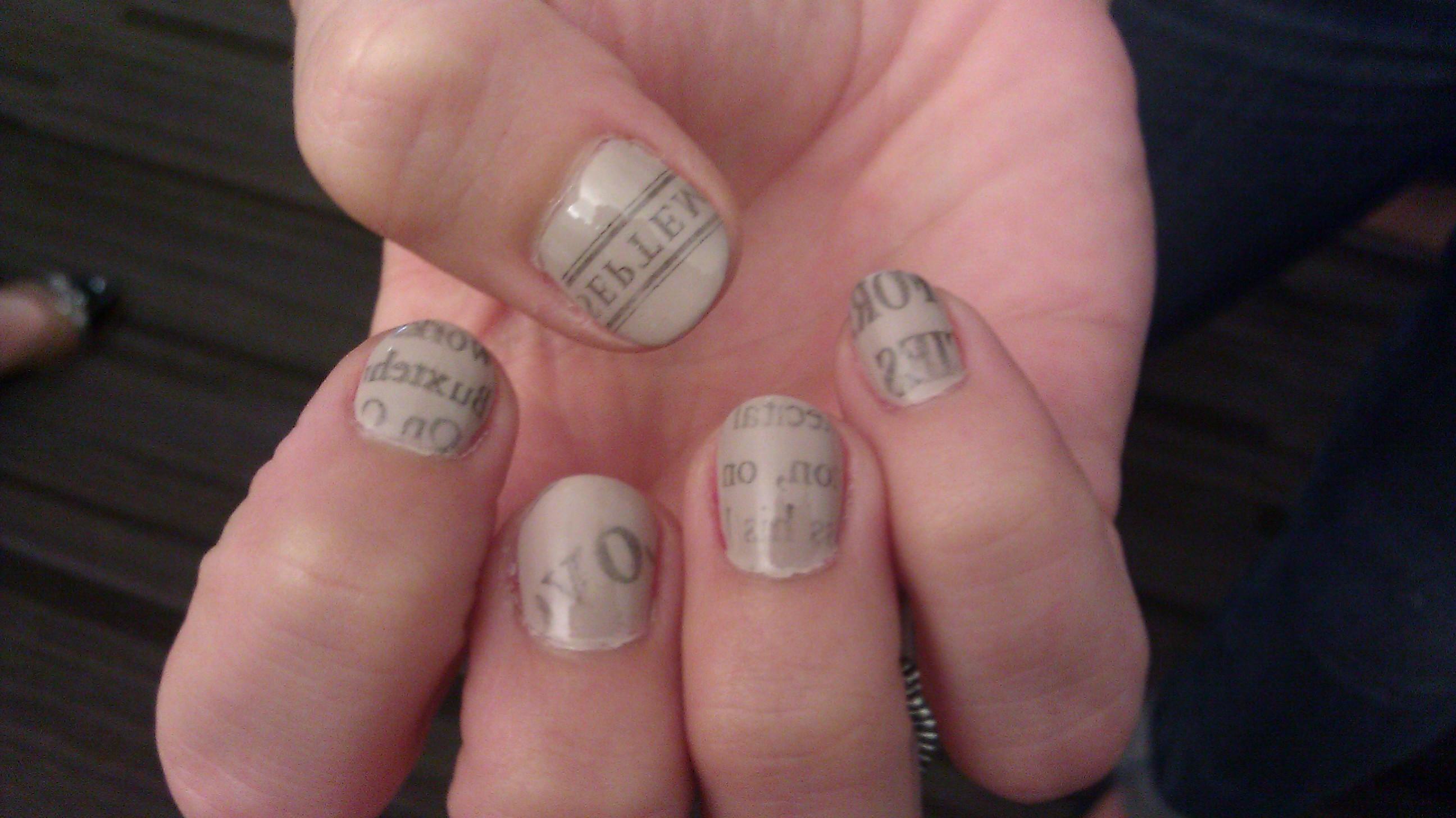 Hot off the press…Newsprint Nails! | @BethOnBeauty