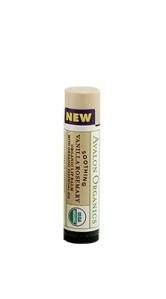 Avalon Organics Soothing Rosemary Vanilla lip balm