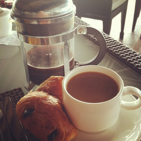 my first experience with a french press was on our honeymoon. Pairs well with a chocolate croissant ;)