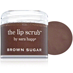 "Sara Happ ""the lip scrub"" in brown sugar. comes in a bunch of different flavors!"