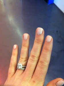 love my new manicure - thanks, Dina!