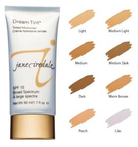 Jane Iredale Dream Tint SPF 15 tinted moisturizer - I'm medium light...love