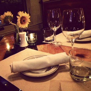 Lovely set table at Steel & Rye