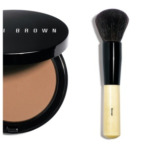 Bobbi brown bronzer and bronzer brush. Great combo