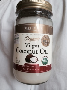 new jar of Coconut Oil. Ready to be swished
