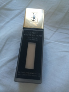 YSL's new Inkfusion foundation. Great coverage, not heavy