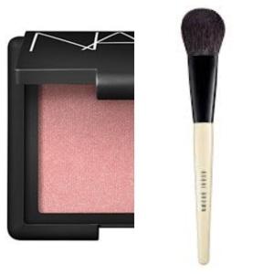 Nars blush in Orgasm - used Bobbi Brown blush brush to apply (can you tell I love Bobbi brushes? so soft)