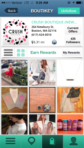 Crush Boutique's feed from the Boutikey app