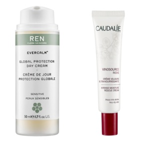 2 favorite winter skincare products: 1> REN Gentle Cleansing Milk  2> Caudalie Moisture Rescue Cream