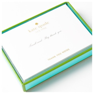 Love these Kate Spade thank you notes. Good quality paper <3