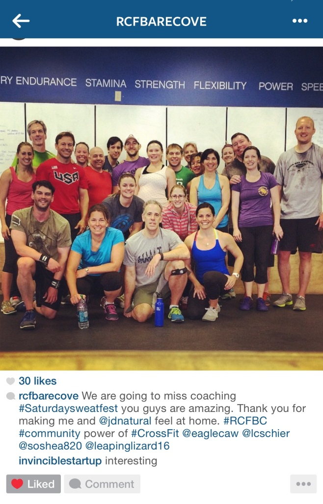 my first official CrossFit pic! Just try to find my lil head