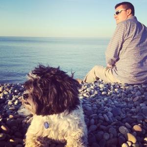 my boys at the beach near our new house